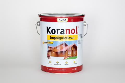 Obermeier Koranol Imprägnierlasur 5 l im Eimer Eiche hell