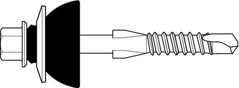 SFS intec Bohrschraube Bauaufsichtliche Zulassung 6,3x115 mm 100St/Pak Durocoat