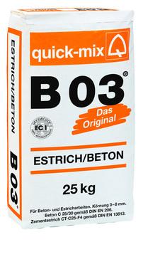 Quick-Mix Estrich/Beton B03 40 kg