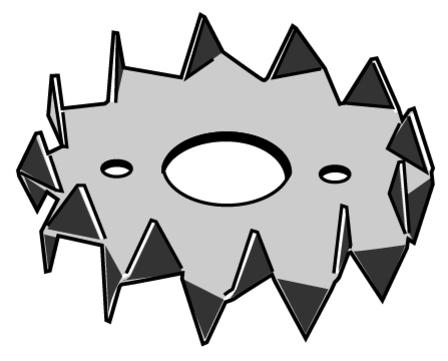 Simpson Bulldog-Dübel C1 50x17x13mm zweiseitig gezahnt Feuerverzinkt