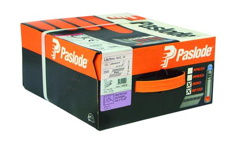 ITW Nagel 2,8x 75 mm RS IM90 Impulse Pack Nr. 142019 2500 Nägel und 2 Brennstäbe Galvanisch plus