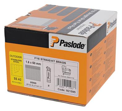 ITW Nagel 1,6x50 mm glatt IM65F16 Pack Nr. 921595 2000 Nägel und 2 Brennstäbe Edelstahl V4A