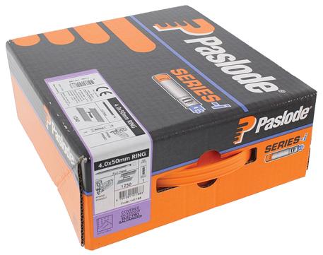 ITW Nagel 4,0x 50 mm RS Imp. H-Pack Nr. 141188 1250 Nägel und 1 Brennstäbe Galvanisch verzinkt