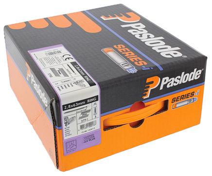 ITW Nagel 2,8x 63 mm RS IM90 Impulse Pack Nr. 142013 3750 Nägel und 3 Brennstäbe Galvanisch plus