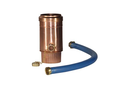 LempHirz 8-teilige Regenwassersammler-Set Profi Nennweite 80 mm 1 Zoll Anschluss Kupfer