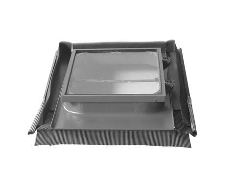 LempHirz Dachfenster Zugdicht 45x55 cm nach oben Alldach mit Universal-Eindeckrahmen Kupfer