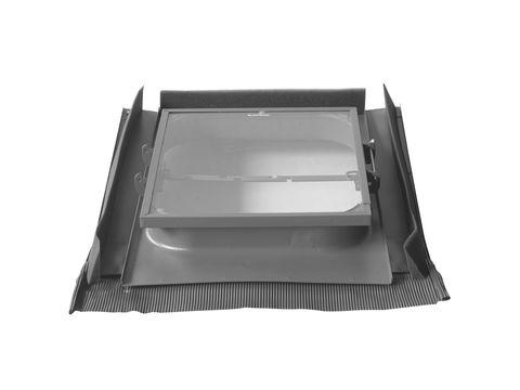 LempHirz Dachfenster 45x55cm beidseitig universal mit Blei Standard ESG Nr.709 Schwarz