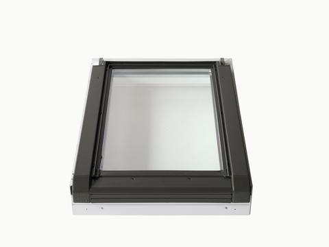 LempHirz Dachfenster 55x78 cm nach oben 1.4 ESG wingopan Wohnraumausstieg Graubraun