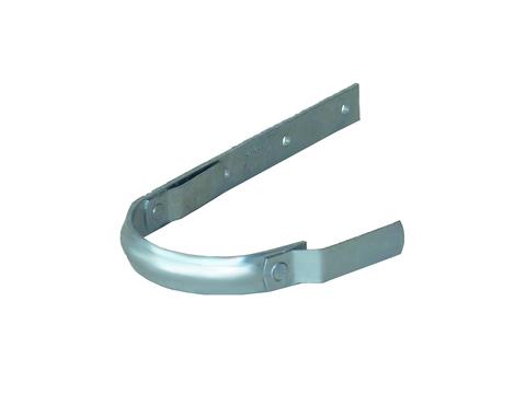 LempHirz 10-teilig Rinnenhalter halbrund 25x4 mm / 2-Feder Schenkel C1=230 mm gemäß EN und Fachregeln Feuerverzinkt