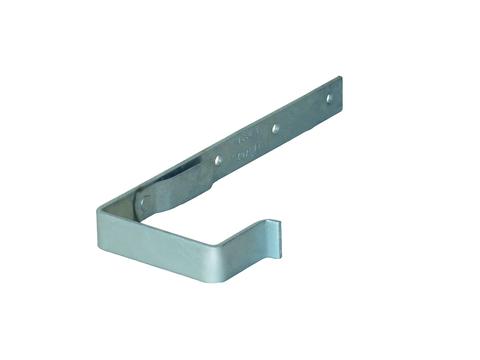 LempHirz 10-teiliger Rinnenhalter Kasten 25x4/10/Nut/Feder Norm- und Fachregeln NFK, Nase/Feder Feuerverzinkt