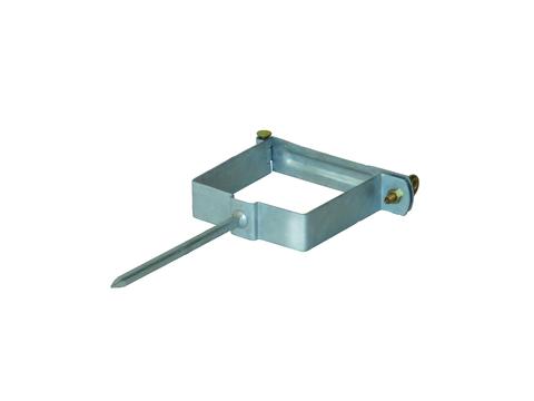 LempHirz 5-teilige Rohrschelle Kasten 100/100/140mm für Vierkantrohre Stiftlänge 140mm Verzinkt