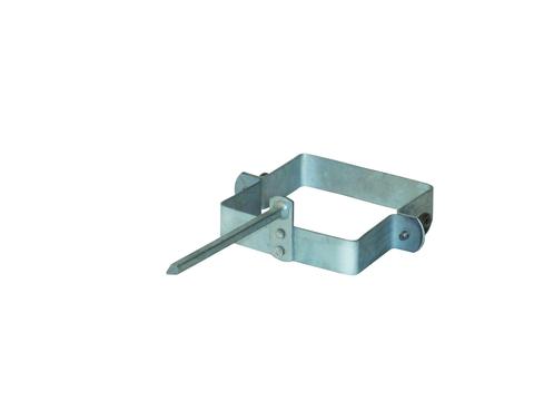 LempHirz 4-teilige Rohrschelle Kasten 120/120/140mm für Vierkantrohre Stiftlänge 140mm Verzinkt