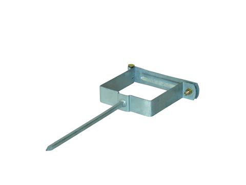 LempHirz 6-teilige Rohrschelle Kasten 80/80/200mm für Vierkantrohre Stiftlänge 200mm Verzinkt