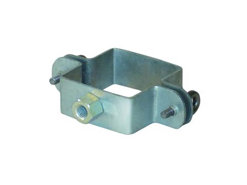LempHirz 8-teilige Rohrschelle Kasten 60/60/M10 für Vierkantrohre mit Gewindemuffe M10 Verzinkt