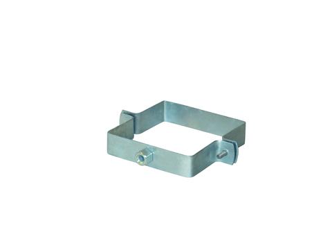 LempHirz 4-teilige Rohrschelle Kasten 120/120/M10 für Vierkantrohre mit Gewindemuffe M10 Verzinkt