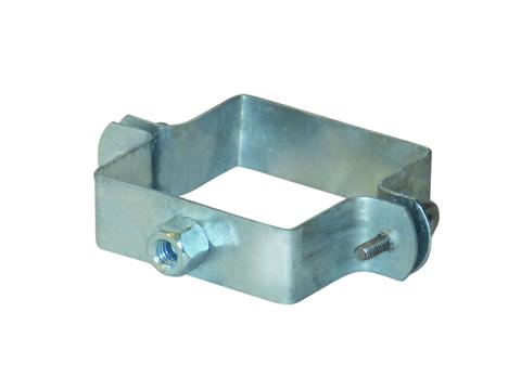LempHirz 6-teilige Rohrschelle Kasten 80/80/M10 für Vierkantrohre mit Gewindemuffe M10 Verzinkt