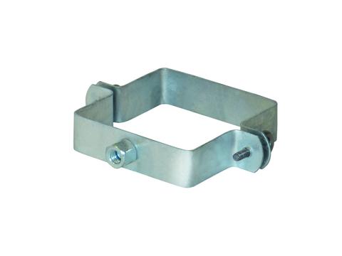 LempHirz 5-teilige Rohrschelle Kasten 100/100/M10 für Vierkantrohre mit Gewindemuffe M10 Verzinkt