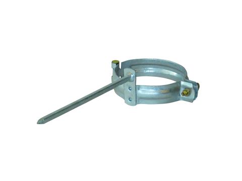 LempHirz 8-teilige Rohrschelle rund 80/200 mm Vierkantstift 200 mm Verzinkt