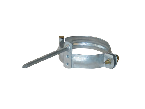 LempHirz 5-teilige Rohrschelle rund 120/140 mm mit V2A Ringschraube und Vierkantstift Verzinkt