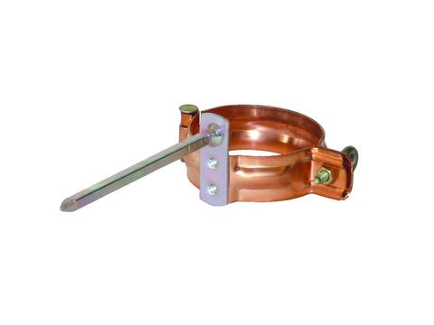 LempHirz 10-teilig Rohrschelle rund 60/140 mm Stift gelb chromatisiert 140 mm Kupfer