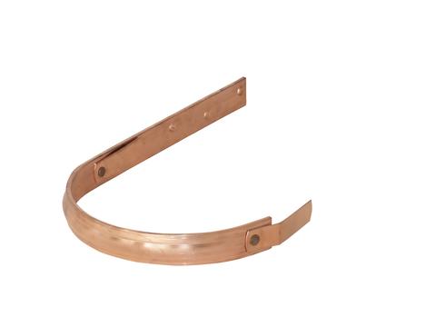 LempHirz 5-teilige Rinnenhalter halbrund 30x5 mm / 2-Feder Schenkel C1=340 mm gemäß EN und Fachregeln Kupfer