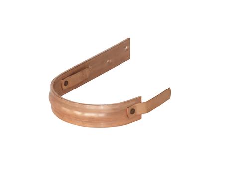 LempHirz 7-teilige Rinnenhalter halbrund 40x5 mm / 2-Feder Schenkel C1=290 mm gemäß EN und Fachregeln Kupfer