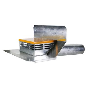 LOROWERK Attika Notdirektablauf Durchmesser 100 mm 01336. 100x mit Becken 40 mm Wehrhöhe Feuerverzinkt