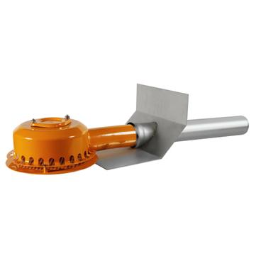 LOROWERK Drainjet Attika Notablauf 50 mm Nr. 01349. 050X 40 mm Klebeflansch für Bitumen Edelstahl
