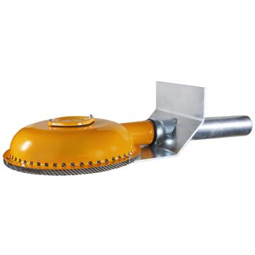LOROWERK Power Drainjet Notablauf DN100 Nr. 01354. 100x Wehrhöhe 40 mm mit Klebeflansch Bitumen