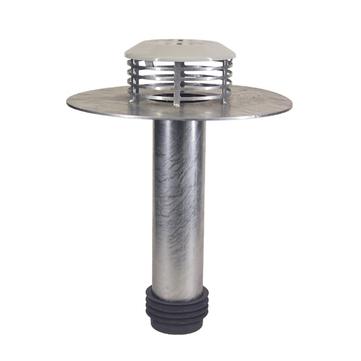 LOROWERK Flachdachsanierungsablauf DN80 Nr. 15518. 080X für Flüssigkunsstoff Feuerverzinkt