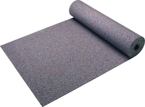KRAIBURG Bautenschutzplatte 6 mm 1,25x10,0 m Kraitec Protect Gummigranulat Bunt