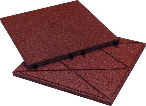 KRAIBURG Kraitec step 30 mm 500x500 mm Gehwegplatte Rot