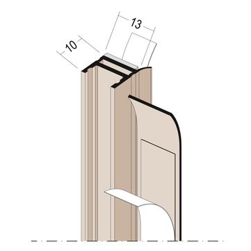 PROTEKTORWERK Laibungsanschluss 3727 2,6 m Weiß