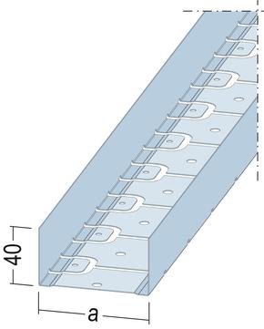 PROTEKTORWERK Profil RS-UW 50x3000 mm 0,60 mm Verzinkt