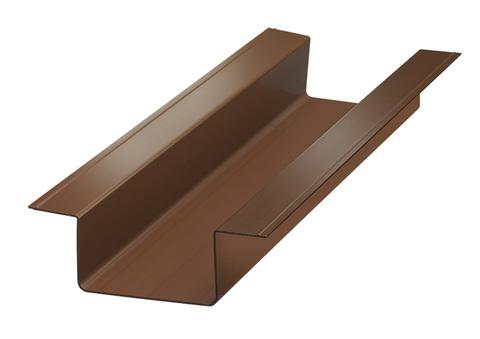 PROTEKTORWERK Carport Dachrinne ungelocht 2,98 m Klebesystem Nennweite 115 mm 40x60 mm Braun