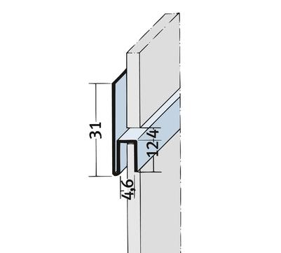 PROTEKTORWERK Fugenprofil 9047 horizontal 2,5 FH 4 H-Profil Plattenstärke 4mm Schwarz