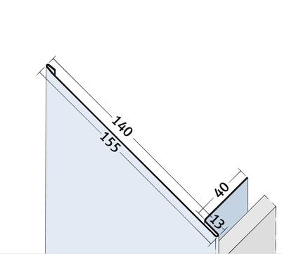 PROTEKTORWERK Anschlussprofil 9084 2,5 m Alu 2,50 m PA13/140 Natur
