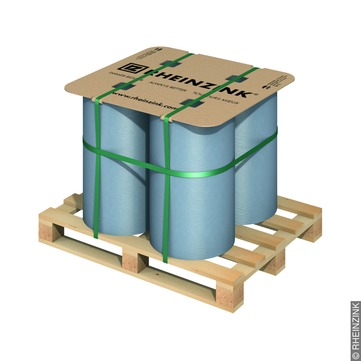 RHEINZINK Band 0,70/ 333 mm 50 kg prePatina Titanzink prePATINA blaugrau
