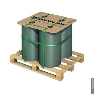 RHEINZINK Band 0,70 mm/ 670 mm 100 kg 4 Bänder / Palette Prepatina schiefergrau
