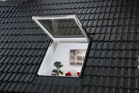 VELUX Wohn- und Austiegsfenster Kunststoff GTU SK08 0070 114x140 cm Polyurethan Thermo Aluminium