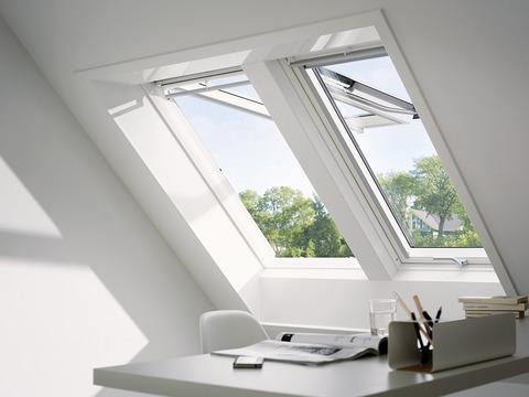 VELUX Klapp-Schwing-Fenster Kunststoff GPU PK08 0060 94x140 cm Polyurethan Thermo Plus Aluminium