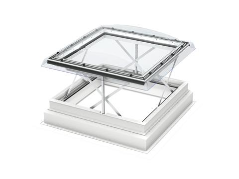 VELUX Flachdach-Rauchabzug CSP 120120 1073Q 120x120 cm Öffnung Flachdach Fenster Kunststoff Isolierglas