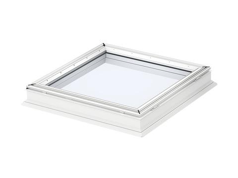 VELUX Flachdachfenster Lichtkuppel CFP 100100 0073QV 100x100 cm Fest. Flachdach Fenster Kunststoff Isolierglas