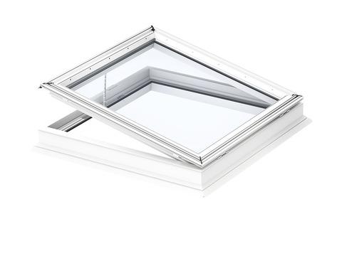 VELUX Flachdach-Fenster mit Flachglas CVP 100100 0673QV 100x100 cm Flachdach Fenster Kunststoff Isolierglas