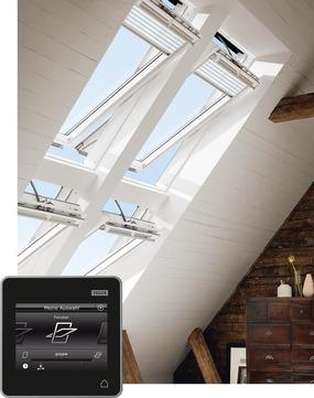 VELUX Schwing-Fenster Kunststoff GGU FK04 006621 66x98 cm Polyurethan Energy Plus Elektrofenster Integra Aluminium