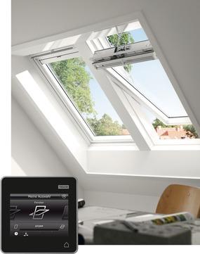 VELUX Schwing-Fenster Kunststoff GGU SK06 007030 114x118 cm Polyurethan Thermo Integra Solarfenster Aluminium