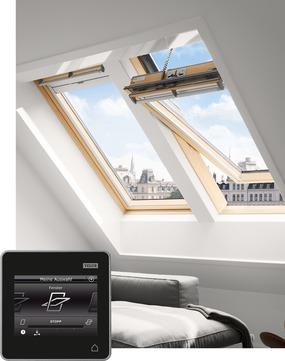 VELUX Schwing-Fenster Holz GGL MK06 307030 78x118 cm klar lackiert Thermo Integra Solarfenster Aluminium