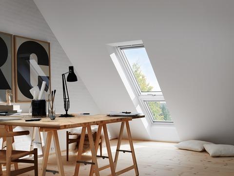 VELUX Fenster-Zusatzelement unten GIL MK34 2070 78x92 cm weiß lackiert Thermo Dachschräge Aluminium