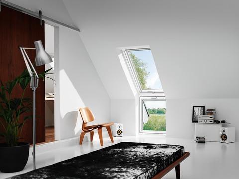 VELUX Fenster-Zusatzelement unten VFE MK35 2062 78x95cm weiß lackiert Energy Schallschutz Wand Aluminium