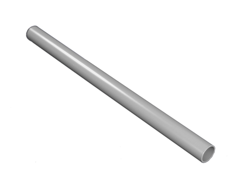 Flender Alu-Rundrohr 120mm 3,0m Dunkelgrau